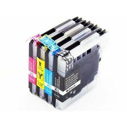 Zestaw LC1100 / LC980 4 tusze do drukarek Brother dcp 145C / 165C / 195C / 365C / czarny, niebieski, żółty, czerwony