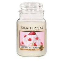 Świeczki, Yankee Candle Strawberry Buttercream aromatyczna świeca zapachowa słoik duży 623 g