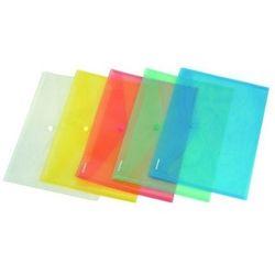 Teczka kopertowa PP na zatrzask A6 w transparentnych kolorach DONAU ekologiczna