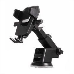 Teleskopowy regulowany uchwyt samochodowy na deskę rozdzielczą szybę czarny Karnawałowa promocja (-42%)