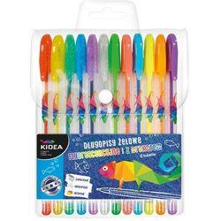 Długopisy żelowe 12 kolorów KIDEA