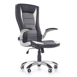 Fotel gabinetowy obrotowy HALMAR UPSET czarny-popielaty-biały, Negocjuj cenę
