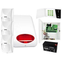 System alarmowy: Płyta główna CA-4 VP + Manipulator CA-4 VKLED + 3x Czujnik ruchu + Akcesoria