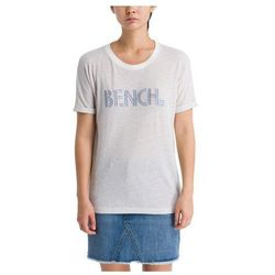 koszulka BENCH - Logo Tee Stripes Snow White + Metallic Stripe (P1281) rozmiar: XS