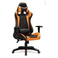 Fotele dla graczy, Fotel gamingowy Halmar DEFENDER-pomarańczowy - fotel dla gracza