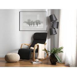 Fotel czarny - bujany - na biegunach - wypoczynkowy - bujak - WESTON