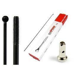 Szprychy CNSPOKE STD14 2.0-2.0-2.0 stal nierdzewna 224mm czarne + nyple 144szt.