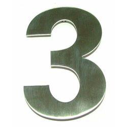"""Cyfra """"3"""" na dom ze stali nierdzewnej 155 mm"""