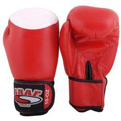 Rękawice bokserskie SMJ Top Ten Red Cow Hide skóra naturalna