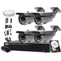 Zestawy monitoringowe, Zestaw do monitoringu: Rejestrator LV-XVR44S, 4x Kamera LV-AL60HVT, 1TB, akcesoria