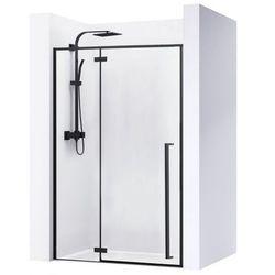 Drzwi prysznicowe z czarnymi profilami 130 cm Rea Fargo Black