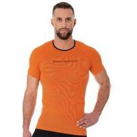 Pozostała odzież sportowa, Brubeck ss11920 koszulka męska 3d run pro z krótkim rękawem pomarańczowy