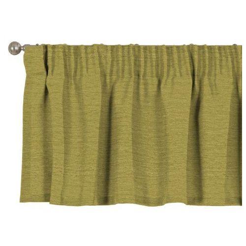 Pozostały wystrój okien, Dekoria Lambrekin na taśmie marszczącej, zielony szenil, 260 × 40 cm, Chenille