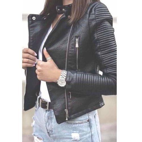 Kurtki damskie, Ramoneska Moto Biker skóra