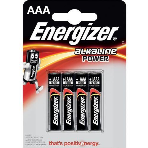 Baterie, 4 x bateria alkaliczna Energizer Base Power Seal LR03/AAA (blister)