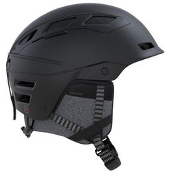 SALOMON QST CHARGE BLACK - kask narciarski R. L (59-62 cm)