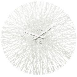 Zegar ścienny biały Silk KZ-2328525