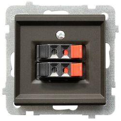 Gniazdo głośnikowe podwójne czekoladowy metalik GG-2R/m/40 OSPEL SONATA