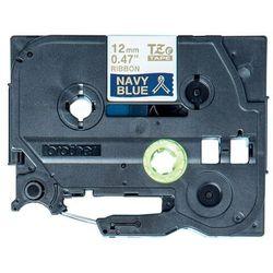 Oryginalna taśma Brother TZe-RN34 12mm x 4m niebieska/złoty nadruk