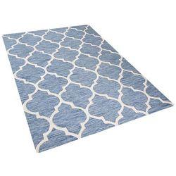 Dywan jasnoniebieski - 160x230 cm - handmade - bawełna - YALOVA