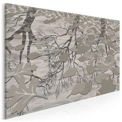 Jesienne, deszczowe melodie - nowoczesny obraz do sypialni - 120x80cm