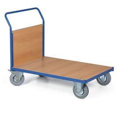 Modułowy wózek platformowy, 1000x700 mm, pełne szare koła, nośność 400 kg