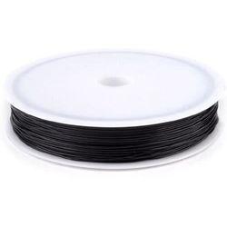 Elastyczna żyłka silikonowa 0,6mm/15-18m - czarna - CZA