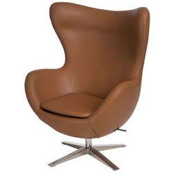 Fotel Jajo szeroki skóra ekologiczna 523 brązowy jasny