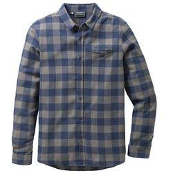 Koszula flanelowa z długim rękawem Slim Fit bonprix niebiesko-zielony w kratę