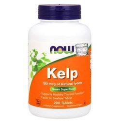 Jod Kelp - algi morskie 150mcg 200 kapsułek NOW FOODS