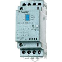 Pozostała elektryka, Stycznik modułowy 4 zwierne + LED, 4NO 25A 230V AC/DC, 22.34.0.230.4320