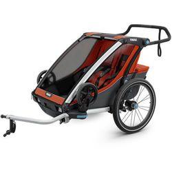 Thule Chariot Cross 2 Przyczepka rowerowa, roarange/dark shadow 2020 Przyczepki rowerowe dla dzieci