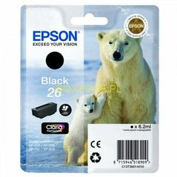 EPSON 26 Series Polar bear black ink cartridge in RS blister pack with RF+AM tags