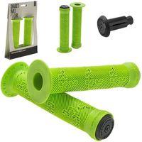 Rogi i chwyty do kierownicy, Chwyty kierownicy BMX SHAMANN 150mm, zielone, czarne korki - Zielony