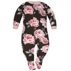 Pajac niemowlęcy Brązowe Róże - Dolce Sonno