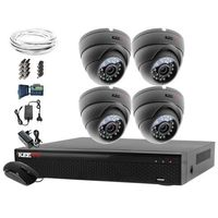 Zestawy monitoringowe, Zestaw monitoring 4 kamery HD AHDm LV-AL25MD chmura Rejestrator LV-XVR84N Akcesoria