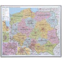 Mapy i atlasy dla dzieci, Tablica mapa 2x3 officeBoard – mapa administracyjna Polski 102,5x120cm, płyta miękka