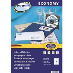 Etykiety uniwersalne Economy Europe100 ELA019, 105x37,1mm
