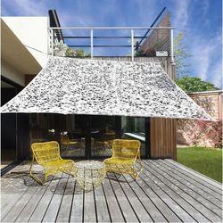 Żagiel przeciwsłoneczny ogrodowy z otworami 3mx3m biały dobrebaseny