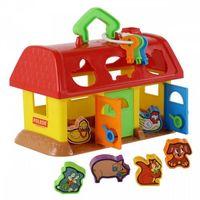 Pozostałe zabawki, Sorter kształtów Domek dla zwierząt (pudełko)