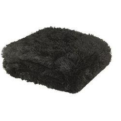 Dekoria Pled Shaggy Black 150x200cm, 150 × 200 cm