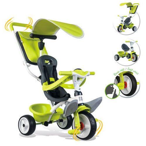 Rowerki trójkołowe, Smoby Rowerek trójkołowy Baby Balade zielony 741100