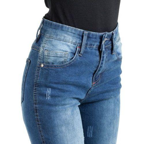 Spodnie motocyklowe damskie, Damskie jeansowe spodnie motocyklowe W-TEC Panimali, Niebieski, 3XL
