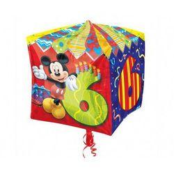 Balon foliowy Sześcian Myszka Mickey na 6 urodziny - 38 cm - 1 szt.