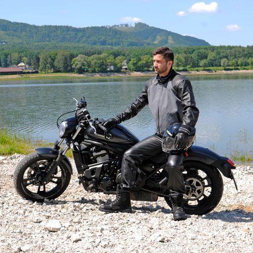 Buty motocyklowe, Skórzane buty motocyklowe W-TEC Highlander, Czarny, 43