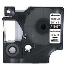 Rurka termokurczliwa DYMO Rhino 18057 19mm x 1.5m ø 4.6mm-8.7mm biała czarny nadruk S0718330 - zamiennik   OSZCZĘDZAJ DO 80% -