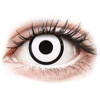 Soczewki kontaktowe, ColourVUE Crazy Lens - White Zombie - jednodniowe zerówki (2 soczewki)
