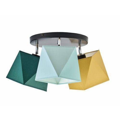 Lampy sufitowe, Lampa sufitowa plafon BALM abażur diament 3xE27