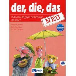 Der die das neu 5 Nowa edycja Podręcznik z płytą CD - Kozubska Marta, Krawczyk Ewa, Zastąpiło Lucyna (opr. miękka)
