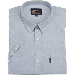 Lniana błękitna koszula męska Mr.Unique kr